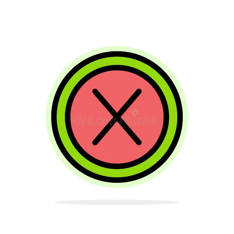 Dicht, Dwars, Interface, Nr, van de Achtergrond gebruikers Abstract Cirkel Vlak kleurenpictogram stock illustratie