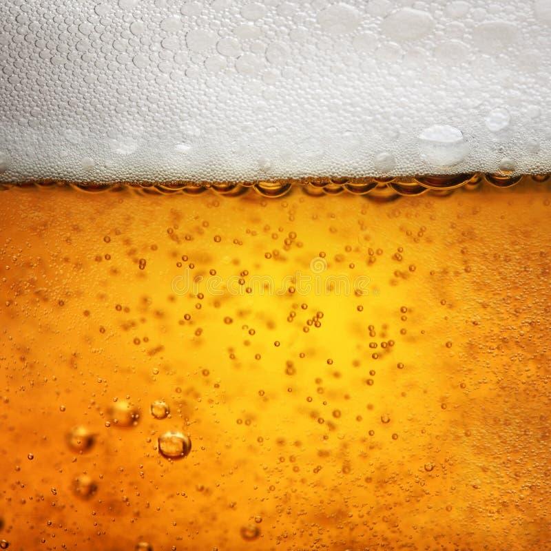 Dicht macrobeeld van glas bier royalty-vrije stock foto