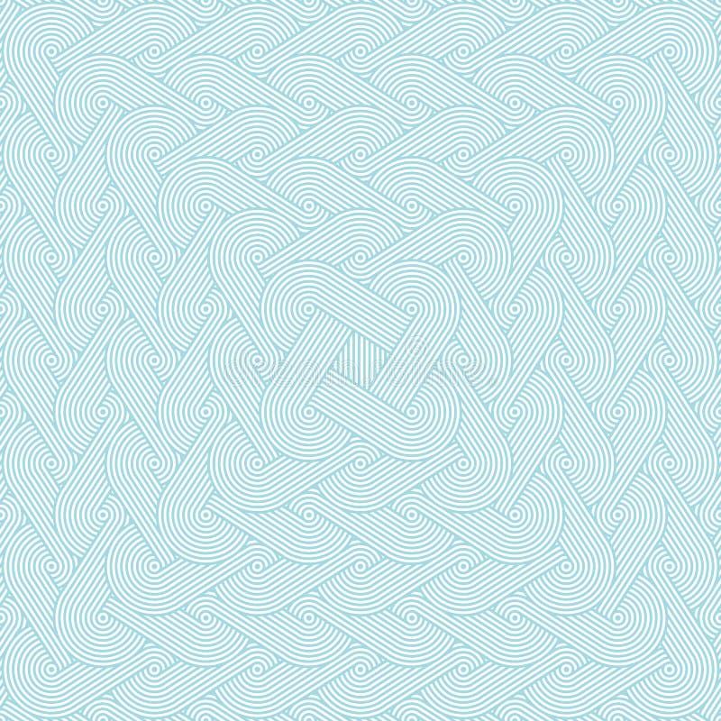 Dicht naadloos patroon met het herhalen van rijen van concentrische cirkels royalty-vrije illustratie