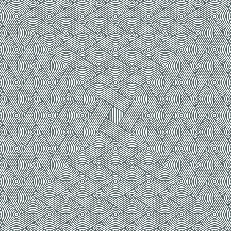 Dicht naadloos uitbreidend patroon met het herhalen van rijen van concentrische cirkels royalty-vrije illustratie