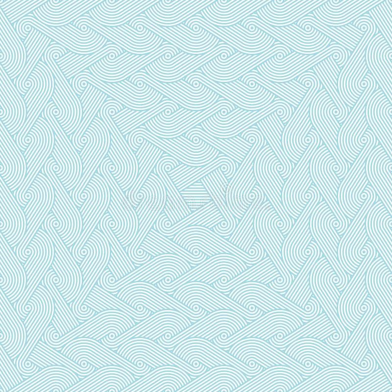 Dicht naadloos verminderend patroon met het herhalen van rijen van concentrische cirkels royalty-vrije illustratie