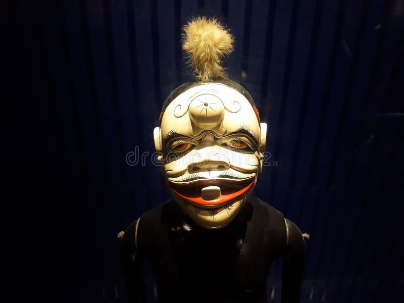 Dicht portret op marionet in museum van de de stadsmarionet van Djakarta het oude royalty-vrije stock foto