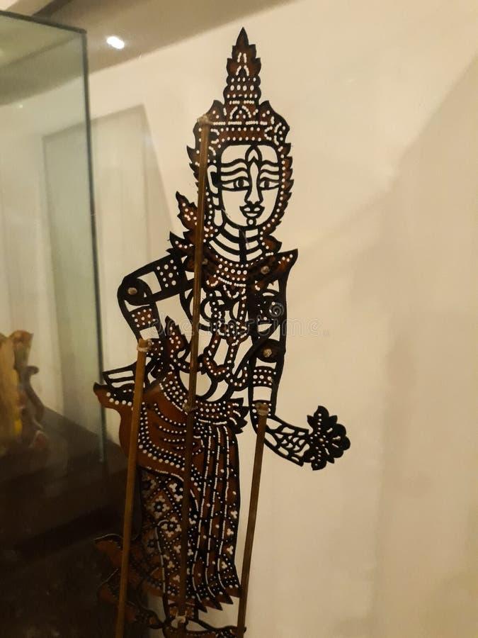 Dicht portret op marionet in museum van de de stadsmarionet van Djakarta het oude stock foto
