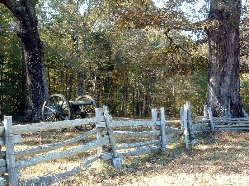 Dichtbij het Wespennest, Slagveld Shiloh stock foto