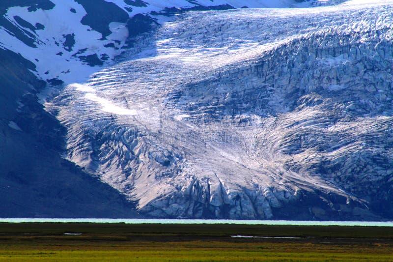 Dichtbij Hvitarnes-hut, IJsland stock afbeeldingen