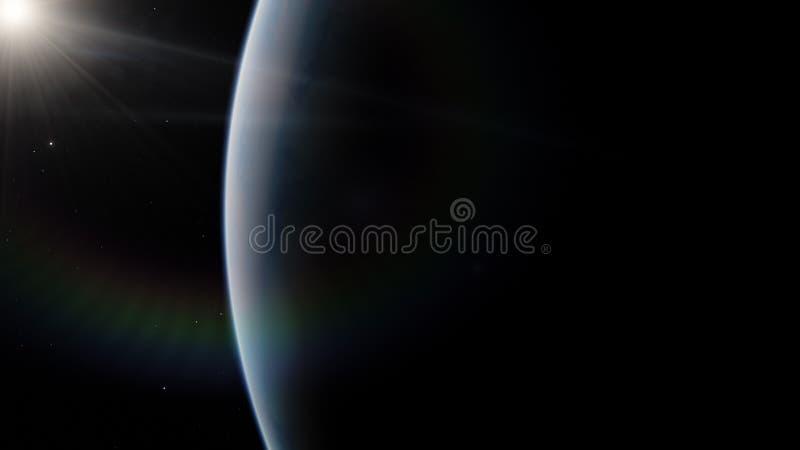 Dichtbij, satelliet met lage omloopbaan blauwe planeet Dit die beeldelementen door NASA worden geleverd royalty-vrije stock afbeelding