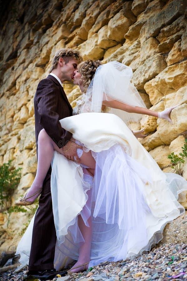 Dichtbij stonewall het paar van Nice royalty-vrije stock fotografie