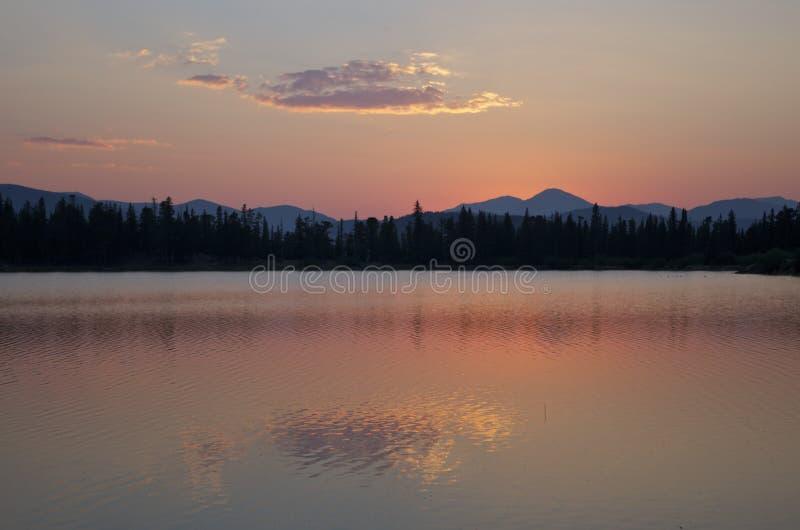 Dichtbijgelegen de zonsondergang zet Evans op royalty-vrije stock foto