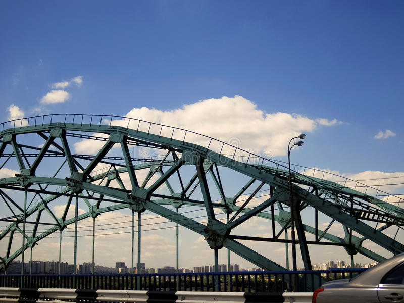 Dichte brugweg royalty-vrije stock afbeelding