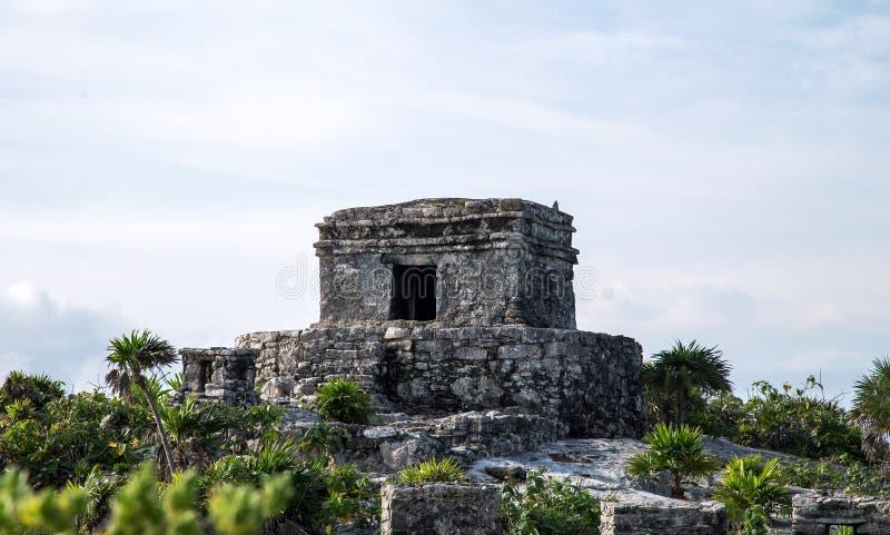 Dichte de Tempel van de Tulumnavigatie royalty-vrije stock foto's