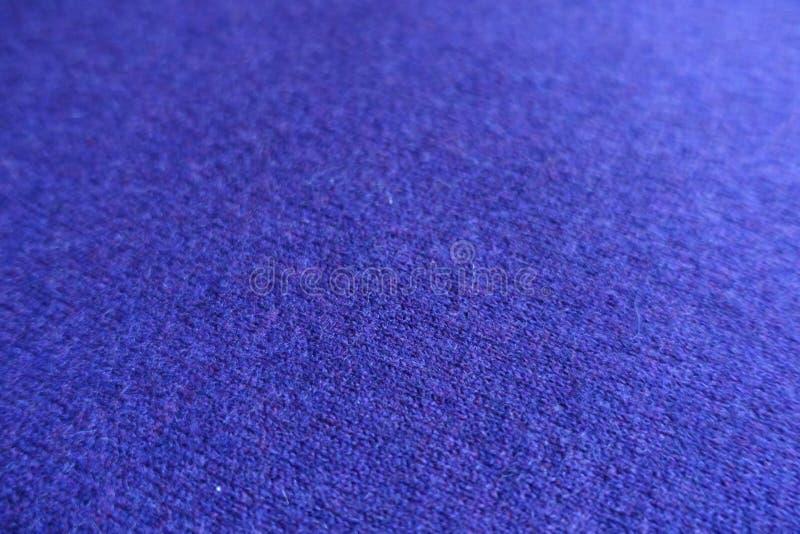 Dichte mening van blauwe gebreide stof royalty-vrije stock afbeelding