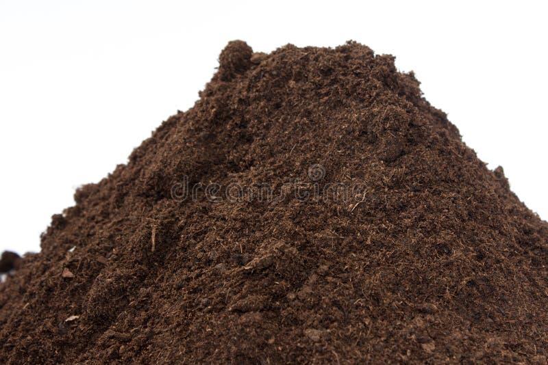 Dichte mening van grond in een stapel stock afbeelding