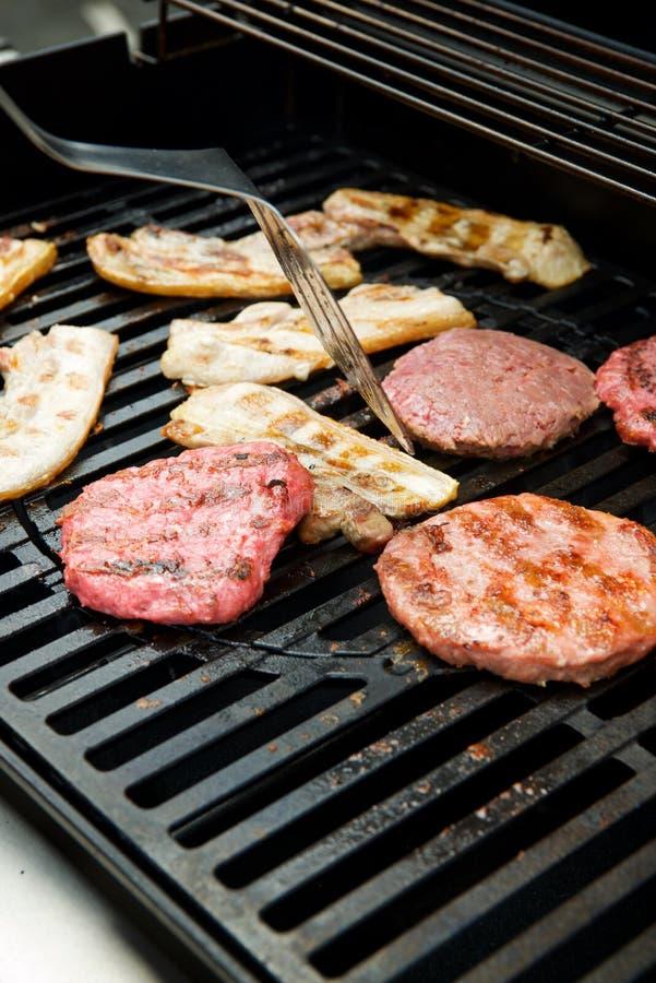 Dichte omhooggaand van de barbecue stock fotografie