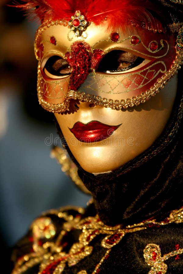 Dichte Omhooggaand van de Maskerade van Carnivale stock foto
