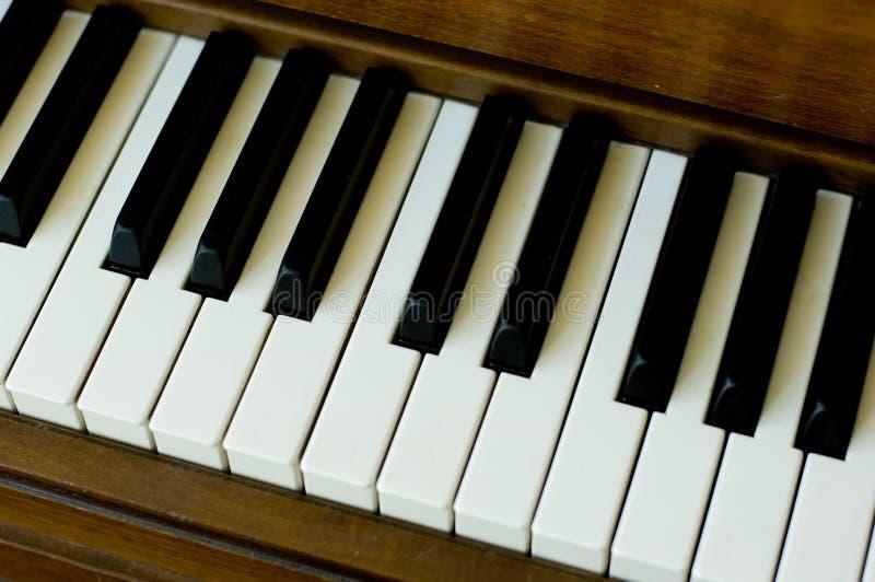 Dichte omhooggaand van de piano royalty-vrije stock afbeeldingen