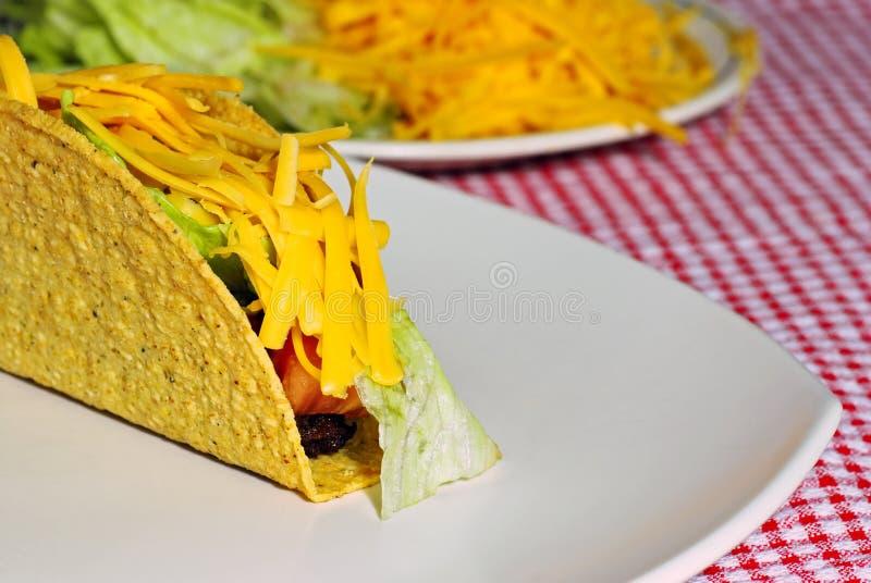 Dichte omhooggaand van de taco stock afbeeldingen