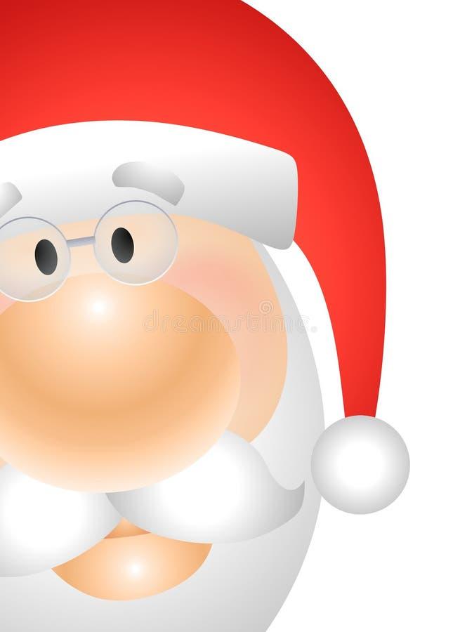 Dichte Omhooggaand van het Gezicht van de Kerstman vector illustratie