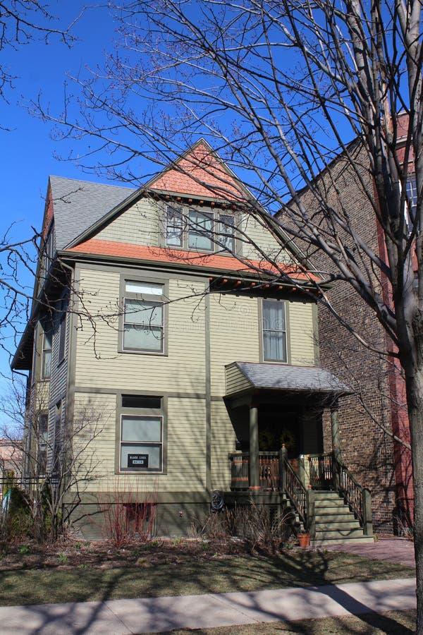 Dichter-Carl Sandburg-Haus in Chicago, Illinois stockfotos