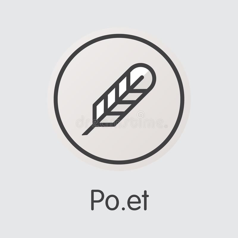 Dichter Virtual Currency Coin Vektor-Netz-Ikone von POE stock abbildung