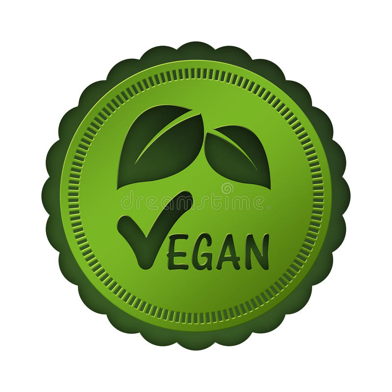 Dichtung des strengen Vegetariers vektor abbildung