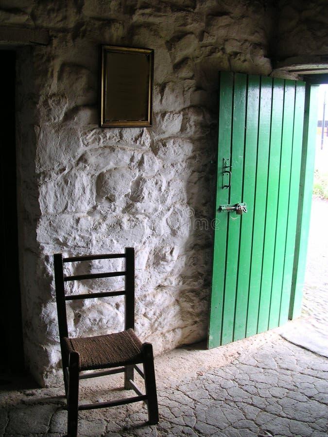 diciannovesimo cottage dell'Irlandese del centesimo fotografie stock libere da diritti