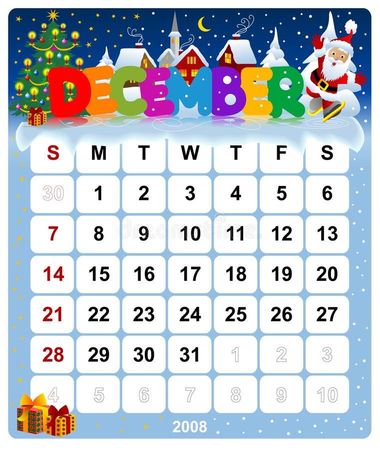 Diciembre de 2008 - diciembre libre illustration