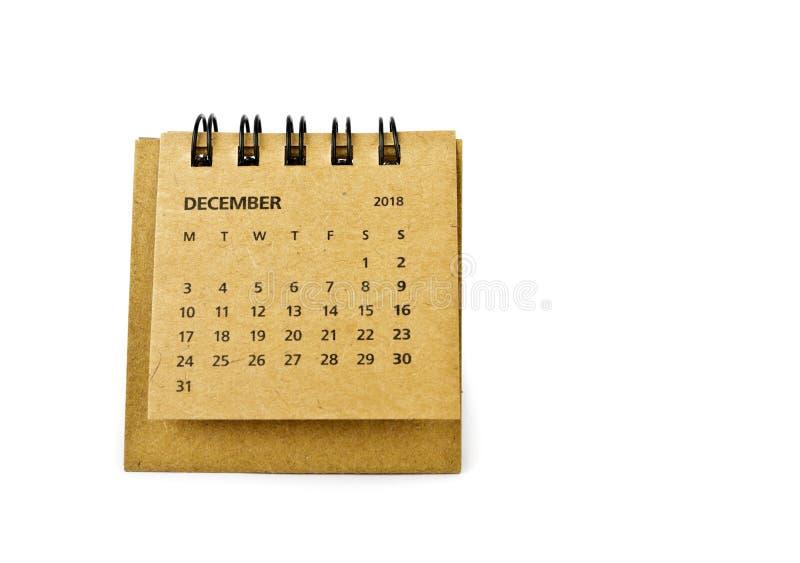 diciembre Hoja del calendario en blanco imagen de archivo libre de regalías
