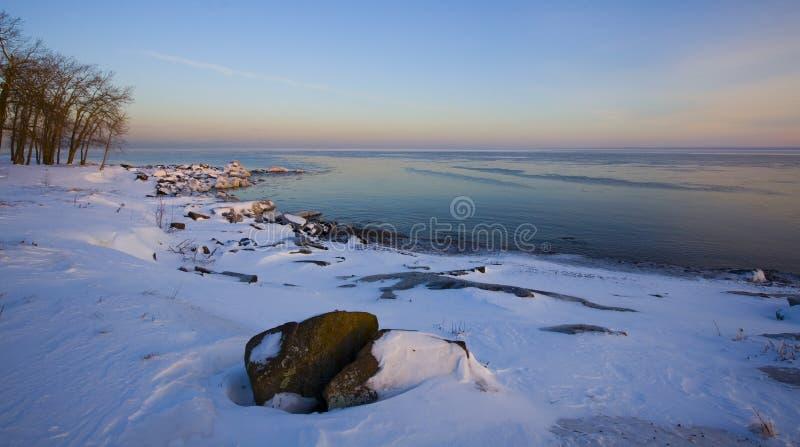 Diciembre Shoreilne fotos de archivo