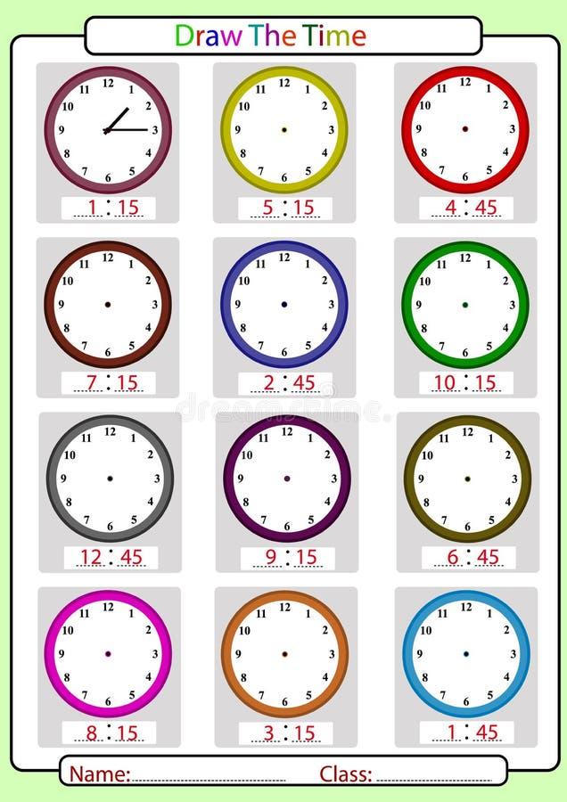 Diciendo el tiempo, cuál es el tiempo, stock de ilustración