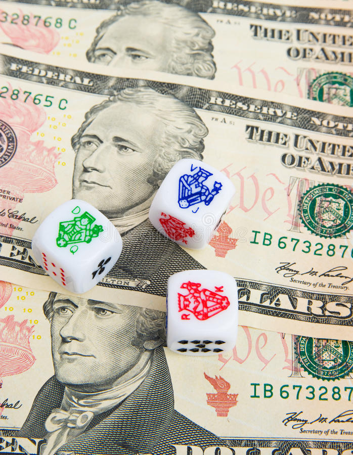 Dicing with the currency: American Dollar.