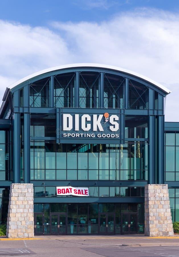 Dick' ; marchandises sportives de s extérieures photos libres de droits