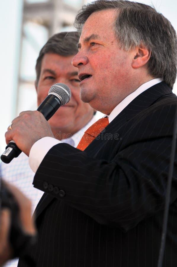 Dick Morris au rassemblement de réception de thé images libres de droits