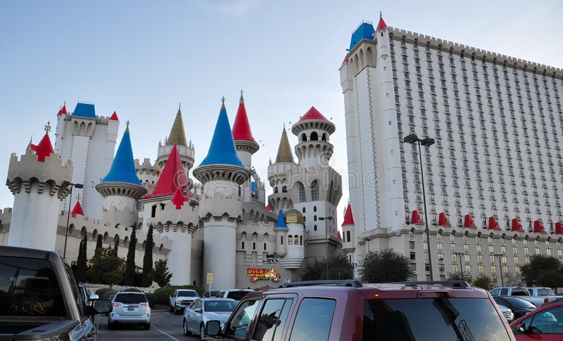 Dick`s Last Resort. LAS VEGAS, NEVADA - JANUARY, 2016: Dick`s Last Resort / Excalibur hotel and casino that hosts the show `Tournament of Kings royalty free stock image