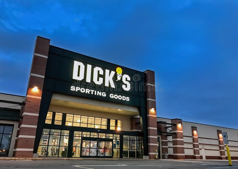 Dick-` s Sport- Waren lizenzfreies stockbild