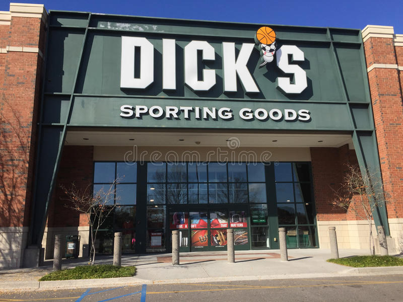 Dick ` s Sportieve Goede opslag stock fotografie