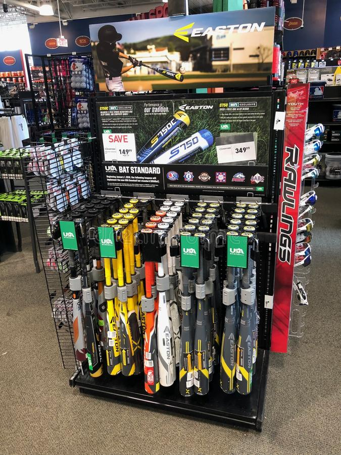 Dick`s Sporting Goods. Dicks Sporting Goods Sporting is a sporting goods chain with equipment, apparel & footwear for athletics, outdoor recreation & fitness royalty free stock images