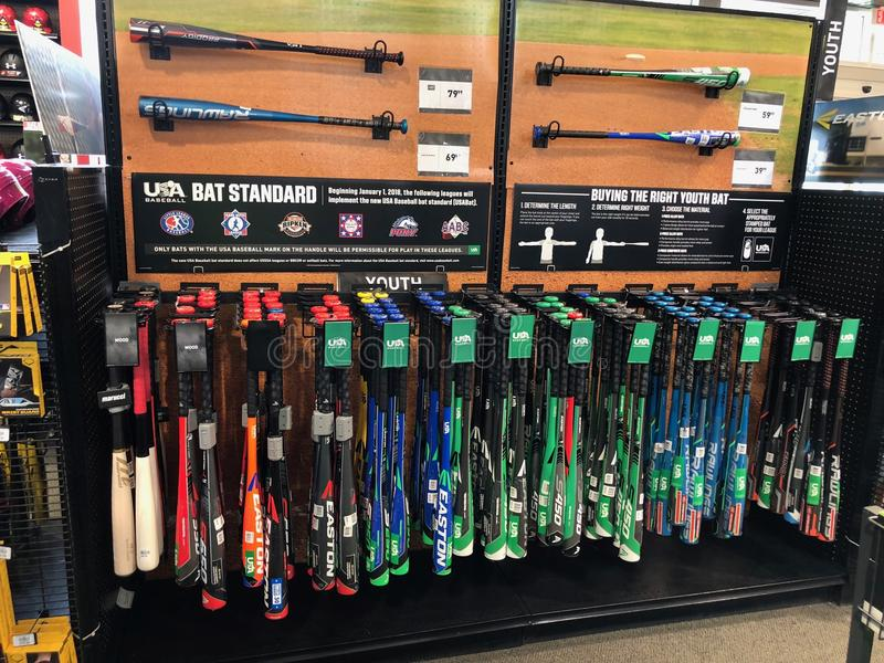 Dick`s Sporting Goods. Dicks Sporting Goods Sporting is a sporting goods chain with equipment, apparel & footwear for athletics, outdoor recreation & fitness royalty free stock photography