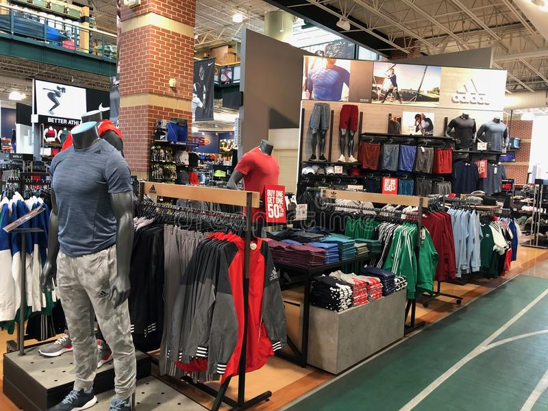 Dick`s Sporting Goods. Storefront selling sporting goods and related items royalty free stock photo