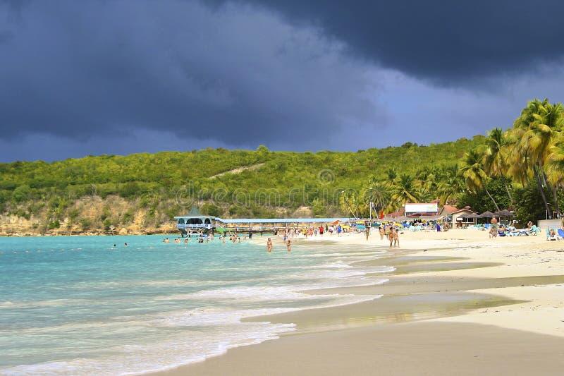 Dickenson Zatoka, Antigua obraz royalty free