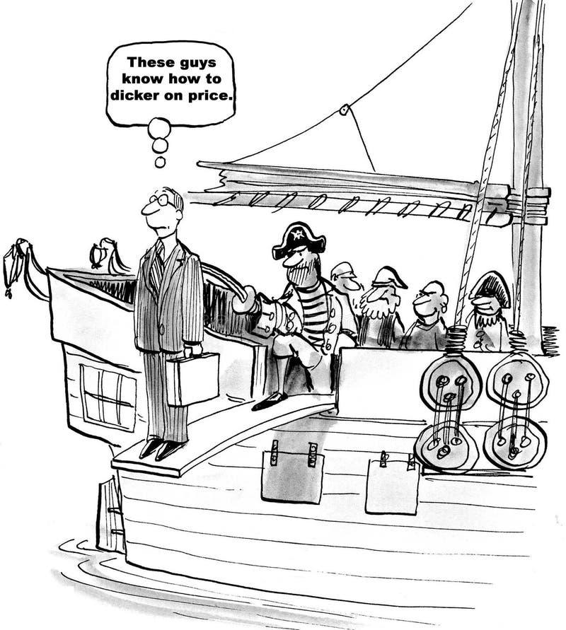 Dickering no preço ilustração royalty free