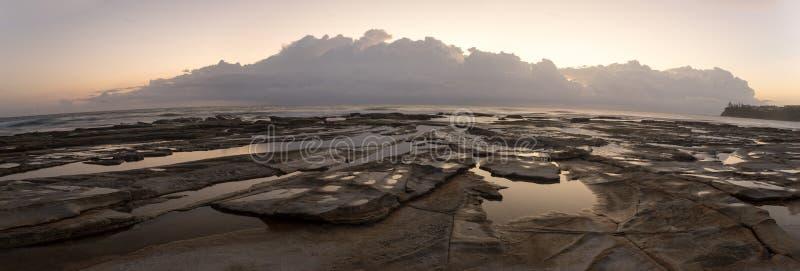 Dicky Beach Queensland Panorama fotografering för bildbyråer