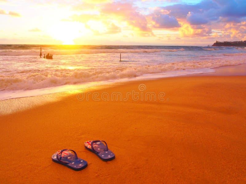 Dicky Beach Sunrise fotografia stock