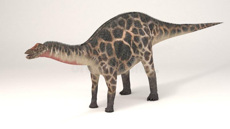 Dicraeosaurus-dinosaurie vektor illustrationer