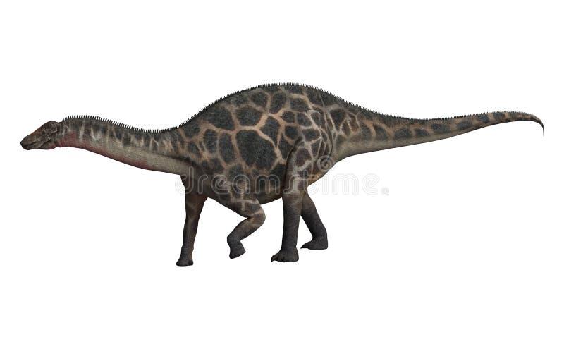 dicraeosaurusdinosaur för clipping 3d över white för banaframförandeskugga vektor illustrationer