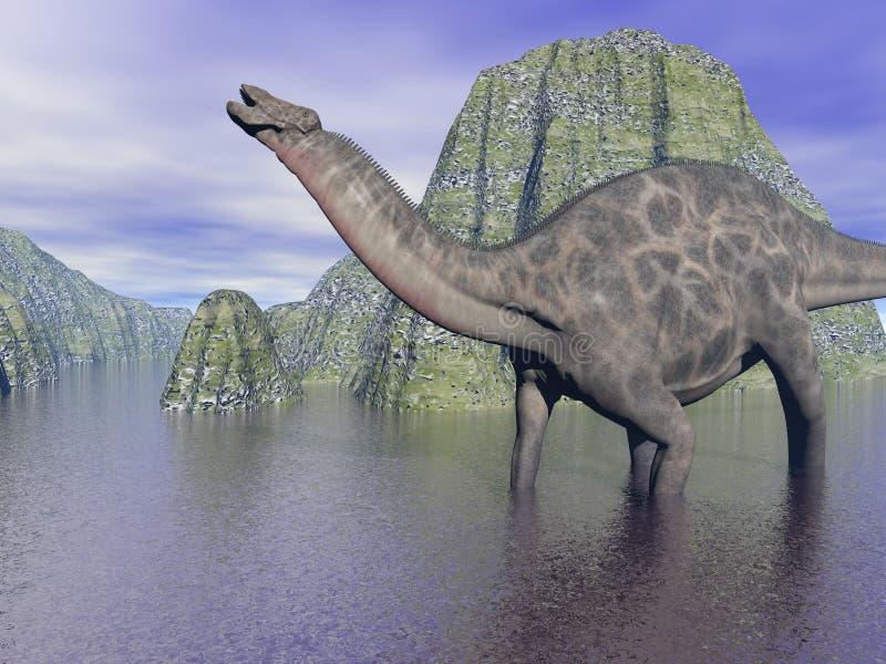 Dicraeosaurusdinosaurie vektor illustrationer