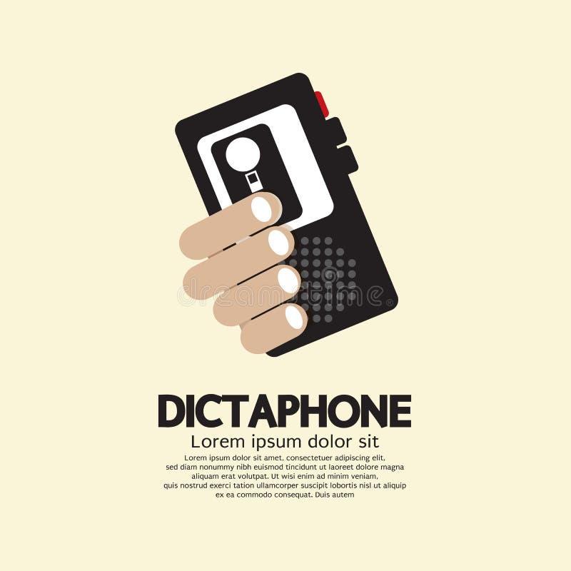Dictáfono ilustración del vector