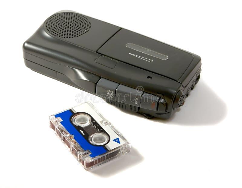 Dictáfono y cinta magnética fotos de archivo libres de regalías