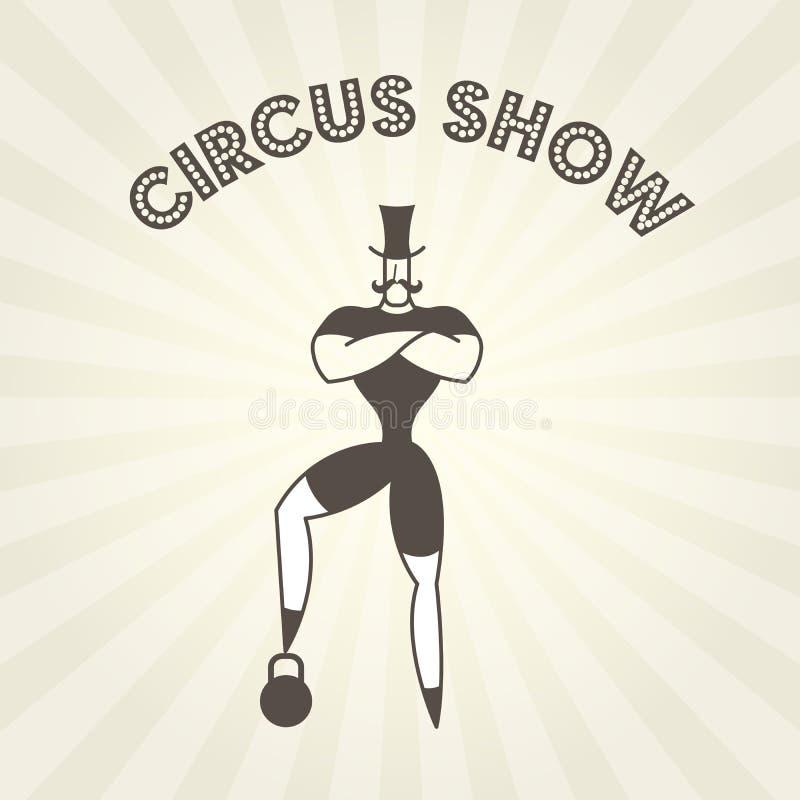Dictador con los brazos cruzados en pecho - actor del circo ilustración del vector