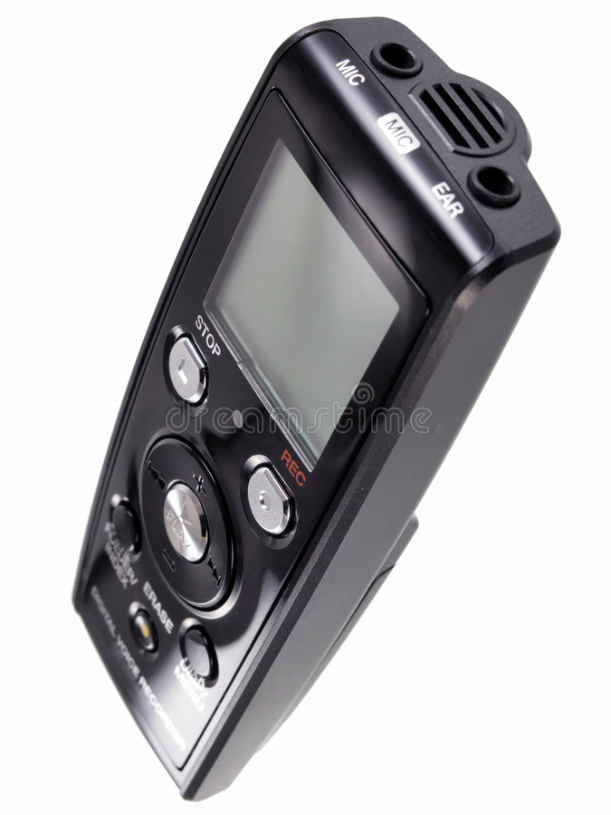 Dictafoon stock afbeeldingen