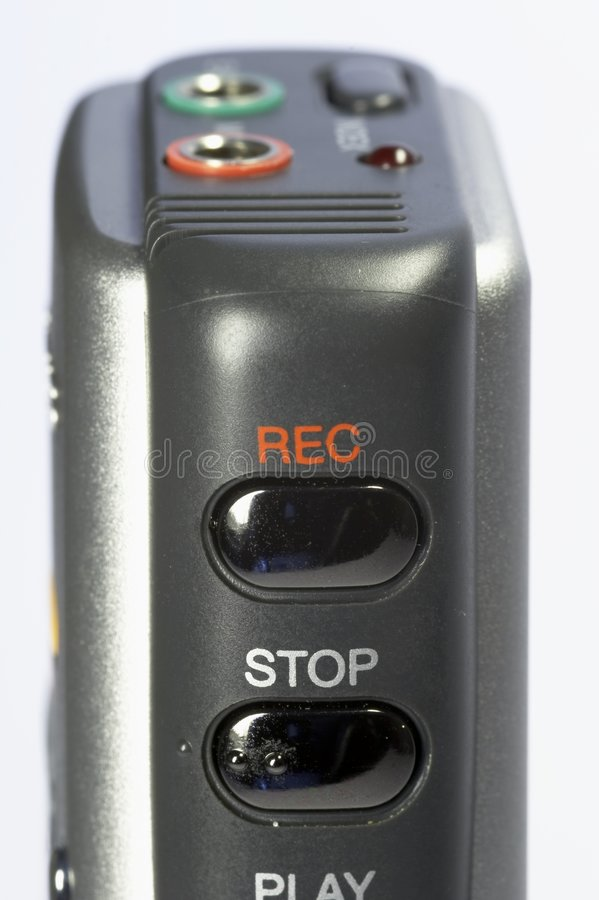Download Dictaphone 04 stock image. Image of play, dictating, forward - 912073